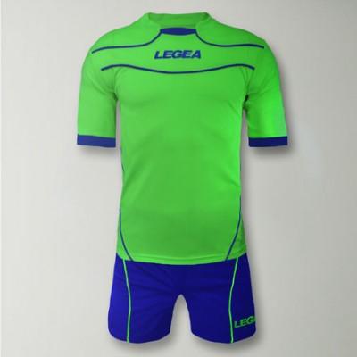 Echipament fotbal Kit Brasilia, Verde Fluo, LEGEA