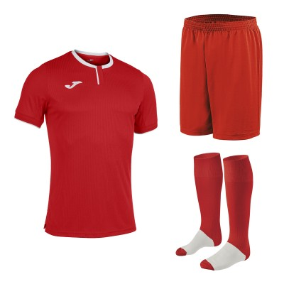 Set echipament fotbal, tricou Gold III JOMA, sort si jambiere Concept Champion