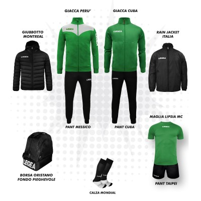 Set complet fotbal, Bomba New, Verde/Negru, LEGEA