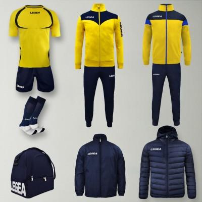 Set complet echipament fotbal Forza, Galben/Bleumarin, LEGEA