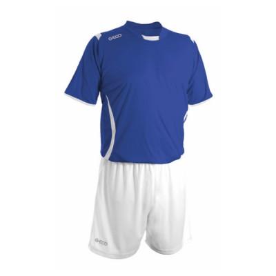 Echipament fotbal royal alb GECO