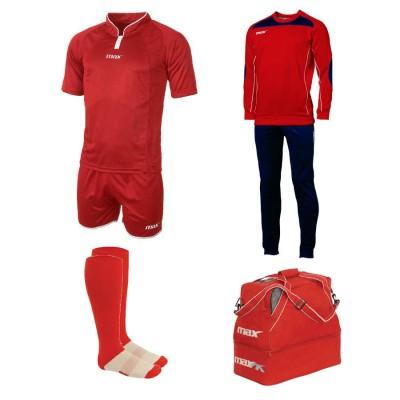 Set echipament fotbal Superbox Europa, Rosu, MAXSPORT